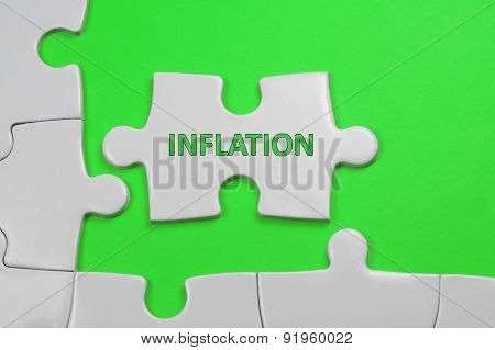 Inflation Text - Business Concept
