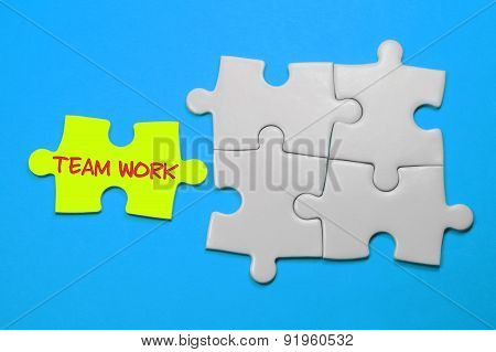 Team Work Text - Leadership Concept