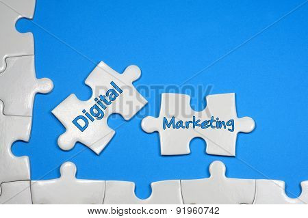 Digital Marketing Text - Business Concept