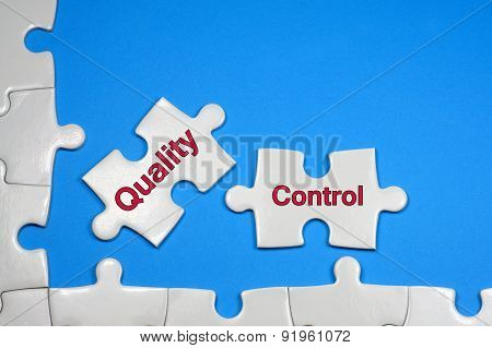 Quality Control Text - Business Concept