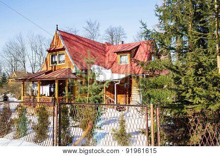 Made Of Wood Residential House In Zakopane