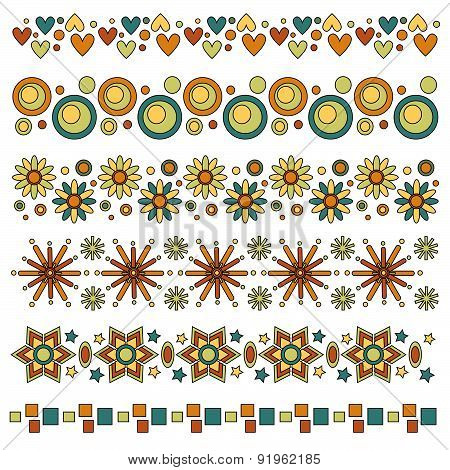 trim collection with hearts circles flowers and stars