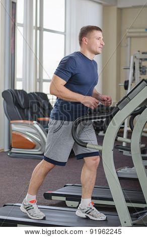 Athlete On The Treadmill