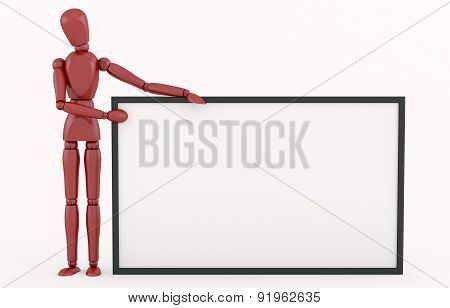 Red Robot with a big frame.