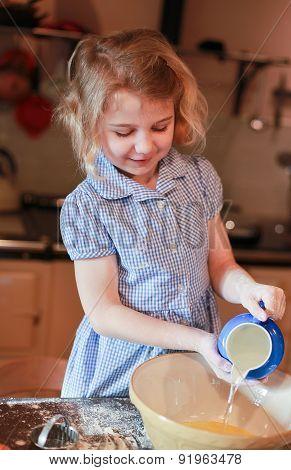 Pretty Little Girl Baking