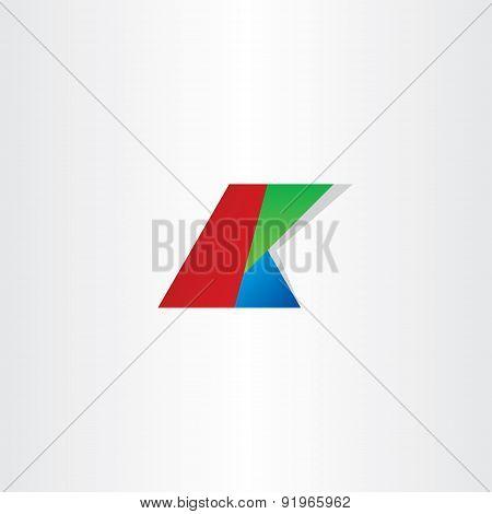 Letter K Colol Rgb Icon