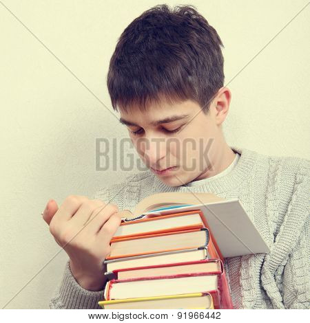 Teenager With A Books
