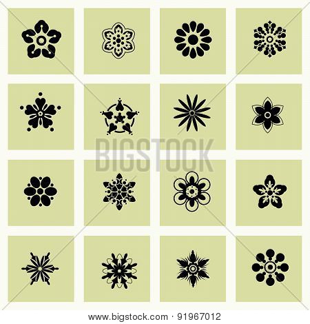 Vector Illustration With Flowers Symbol.