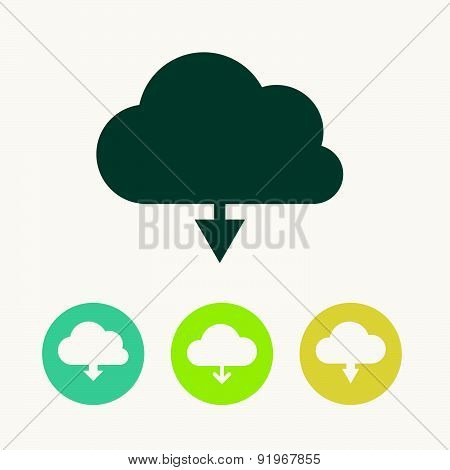Vector Illustration With Load Symbol.