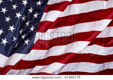 United States Of America Usa Flag In The Wind