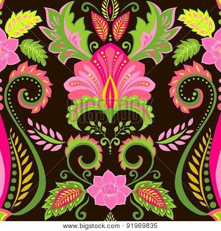 Vintage ornate floral background