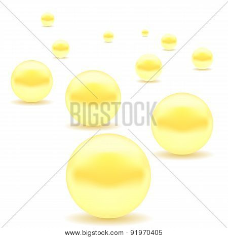 Set of Yellow Pearls