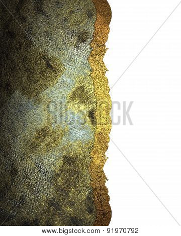 grunge iron textured background with white nameplate. Design template. Design site