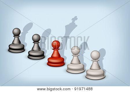 pawn queen