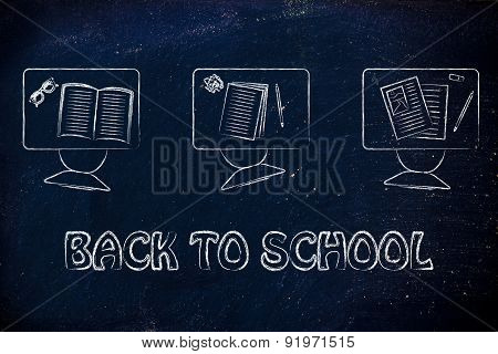 Back To School, Classroom Illustration