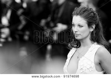 Lucie Lucas attends the 'Sicario' premiere during the 68th annual Cannes Film Festival on May 19, 2015 in Cannes, France.