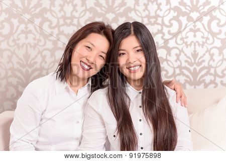 Mommy and daughter together
