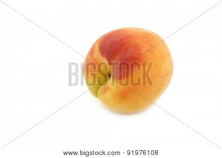 fresh colorful apricot on a white background