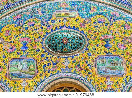Golestan Palace tile decoration detail