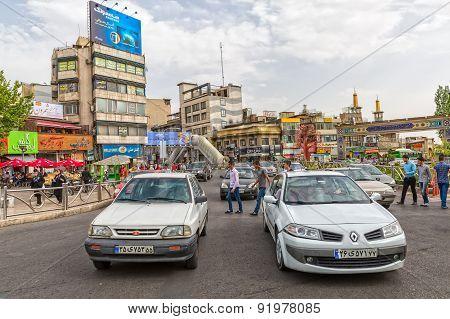 Tehran roundabout