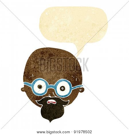 cartoon shocked man with beard with speech bubble