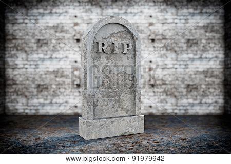 Blank Memorial Gravestone