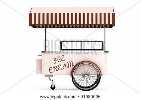 Ice Cream Cart. 3D Rendering