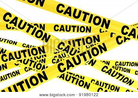 Caution Yellow Tape Strips