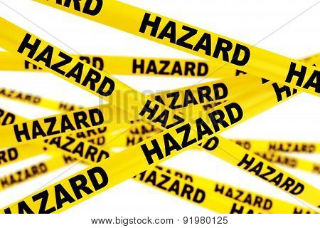 Hazard Yellow Tape Strips