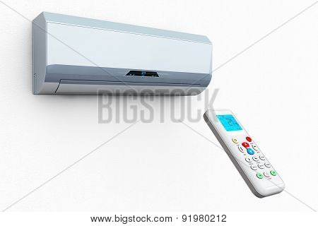 Modern Air Conditioner With Remote