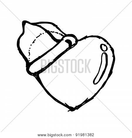 Heart With Condom On The Top