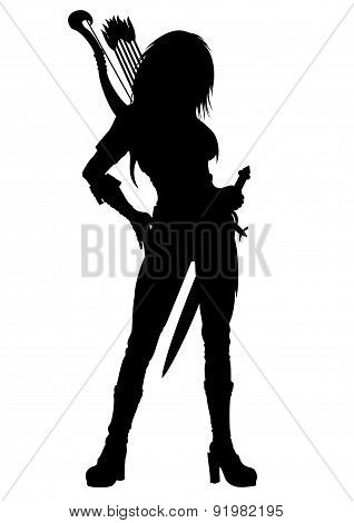 Archer Woman Silhouette
