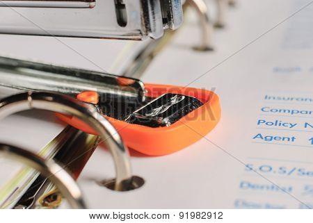 Stapler On Business  Paper