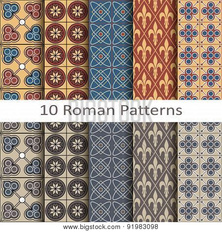set of ten roman patterns