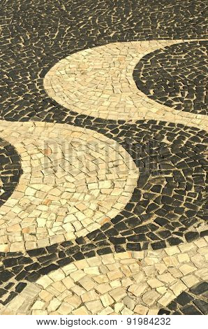 Sidewalk Of Rio De Janeiro
