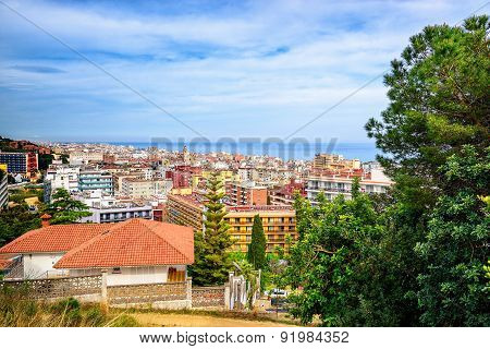 Hill view on Calella town, Catalonia, Spain
