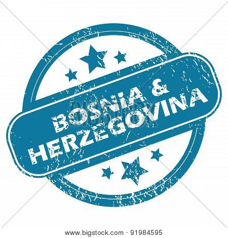 BOSNIA AND HERZEGOVINA round stamp