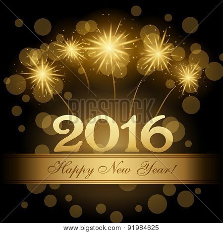 2016 Happy new year vector design