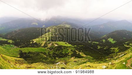 Beautiful Mountain Landscape Of The Carpathians