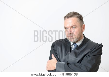Confident Businessman With A Speculative Look