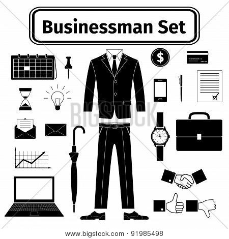 Business-man Icons Set