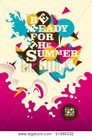 Abstract summer poster design. Vector illustration.