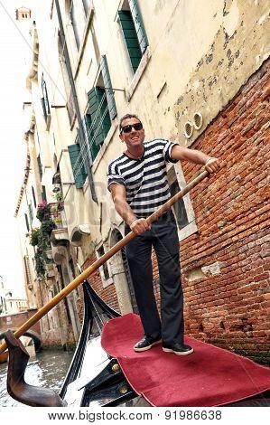Smiling Venetian Gondolier