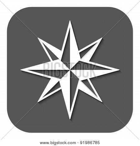 The Star Icon. Star Symbol. Flat