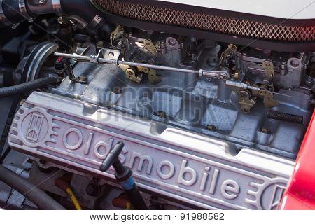 Oldsmobile Engine Car On Display