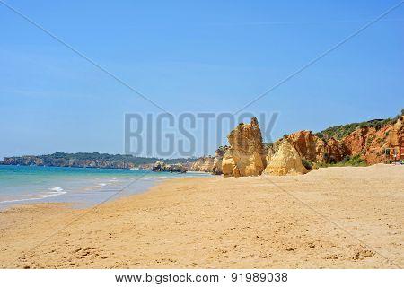 Praia da Rocha in Portimao, Algarve, Portugal