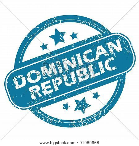 DOMINICAN REPUBLIC round stamp