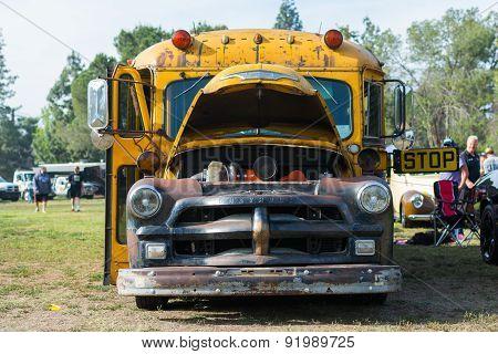 Chevrolet School Bus On Display