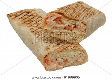 Cut Shawarma Or Tortilla Or Burritos