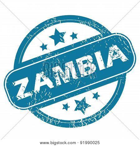 ZAMBIA round stamp
